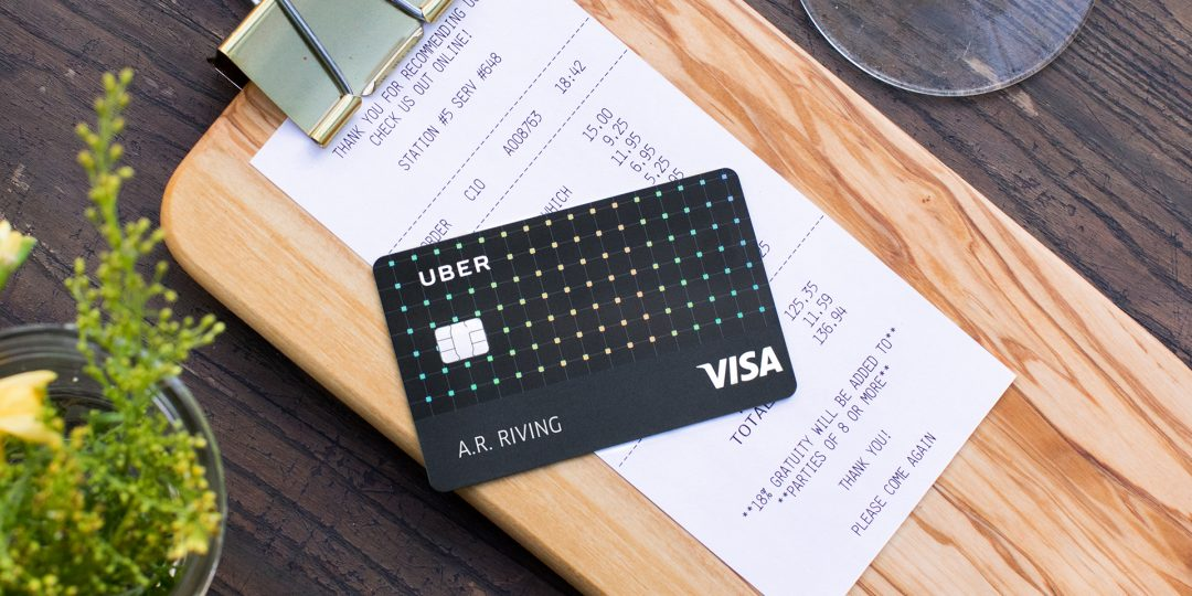 Photo of the Uber Visa Card, courtesy of Uber.
